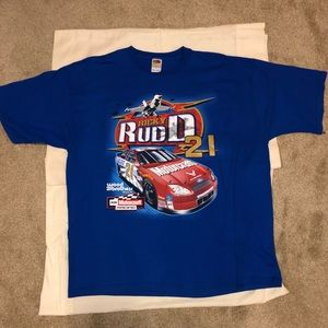 Vtg Nascar Ricky Rudd double Graphic T-Shirt